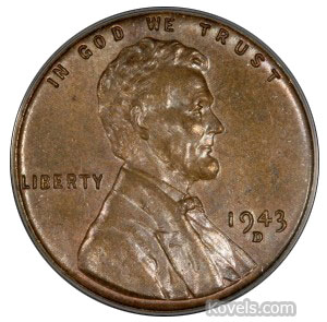 1943 zinc-coated steel Lincoln penny