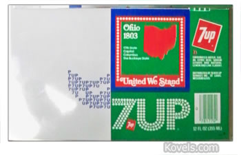 7up aluminum advertising can