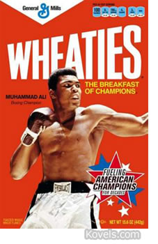 mohammad ali wheaties box package