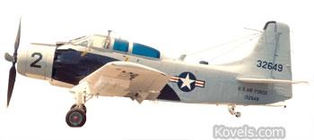 us air force skyraider a ie plane
