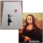 Banksy Art Self-Destructs at Auction