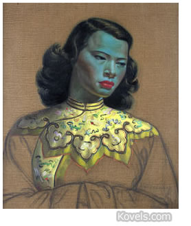 tretchikoff art drawing chinese girl