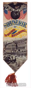 world's fair 1893 souvenir bookmark