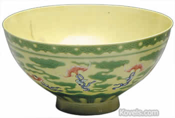 yellow chinese bowl