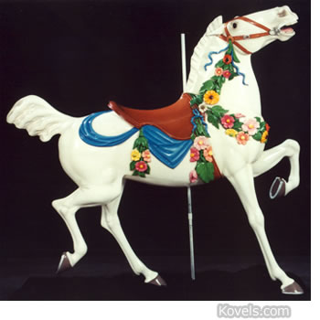 carousel horse with flowers