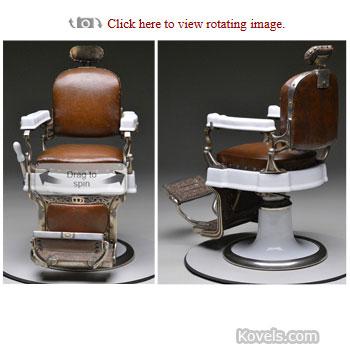 barber chair 360 degree james d julia auction