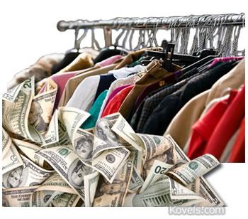 donated used clothing money found