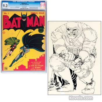batman 1 comic book and dark knight 2 cover art