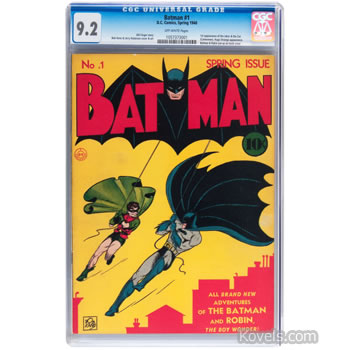 batman comic no 1 highest graded 9.2