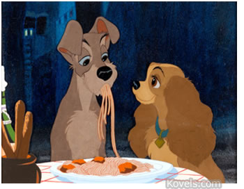 lady and the tramp disney cell