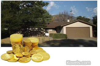 nevada home garage filled with coins