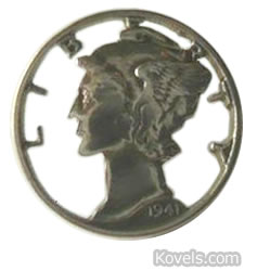 winged liberty dime pin