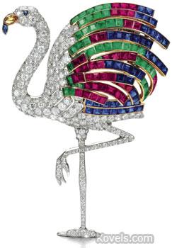 Flamingo Jewelry Pin Duchess of Windsor