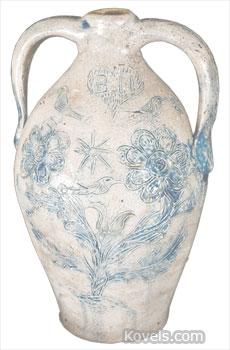 benjamin herington memorial stoneware jug