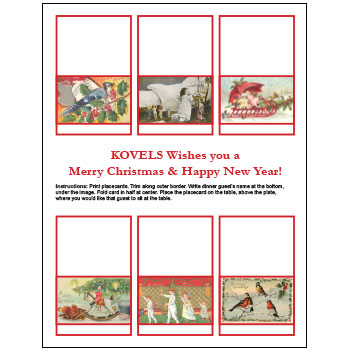 Free Christmas Place Cards for You — from Kovels