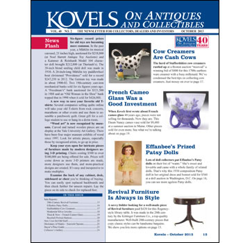 Kovels October 2013 newsletter