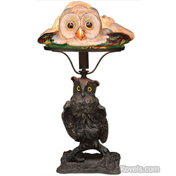 pairpoint puffy glass owl lamp