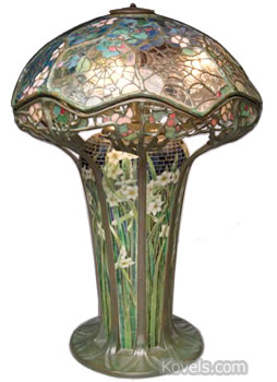 l.c. tiffany cobweb spiderweb table lamp