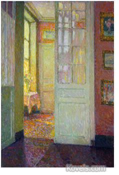 interior painting by henri le sidaner