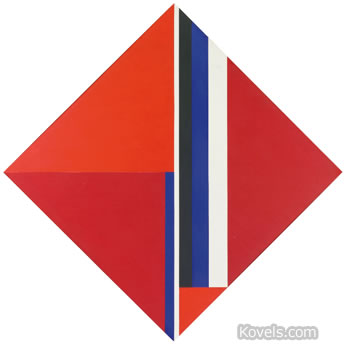 vertical diamond bolotowsky painting