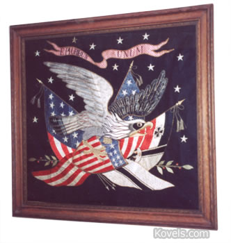 patriotic eagle needlepoint picture