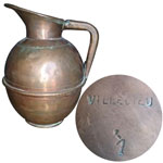 Villedieu Copper Pitcher