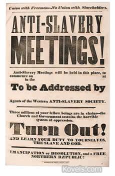 anti-slavery meeting poster