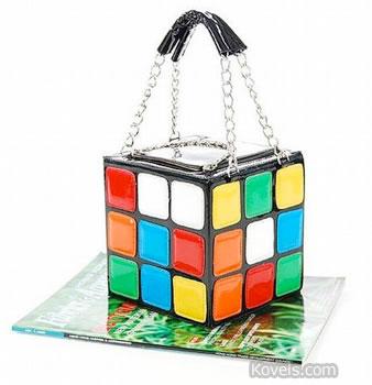 rubik cube puzzle toy purse