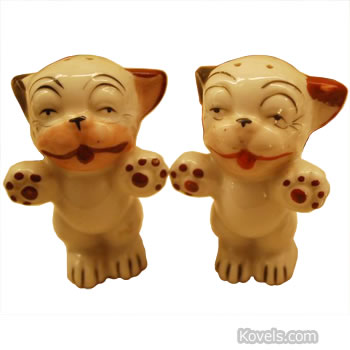 occupied japan salt and pepper dogs