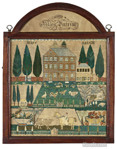 sampler needlework embroidery mary antrim