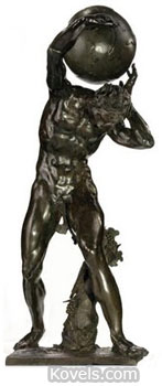mythological bronze figure sculpture