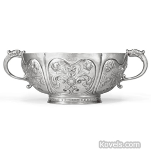 American silver bowl