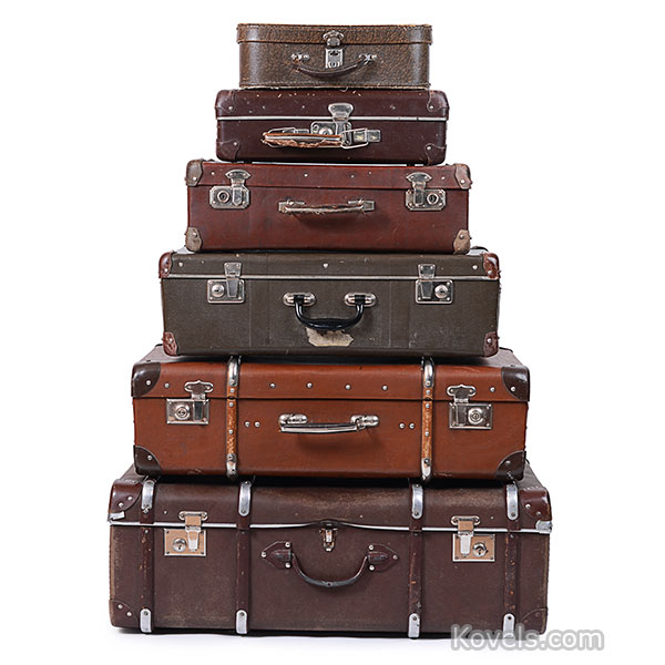 vintage suitecase stack