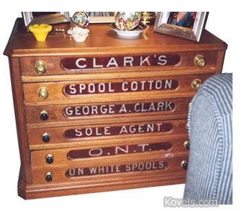 clark thread co spool table