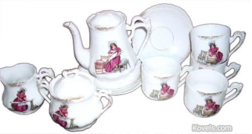 doris anderson lechler child children tea set