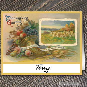 Free Vintage Thanksgiving Place Cards