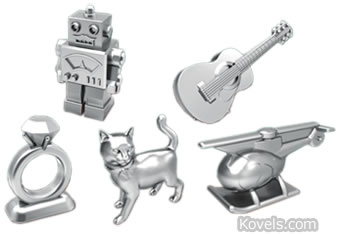 new monopoly game tokens 2013