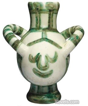 picasso vase gros oiseau vert big green bird vase