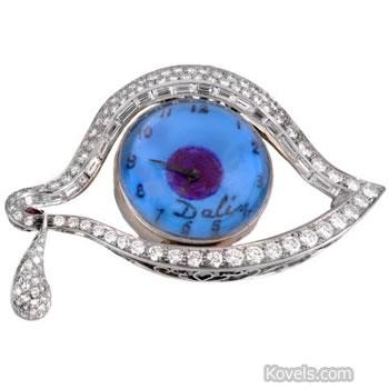 salvador dali eye watch pin jewelry