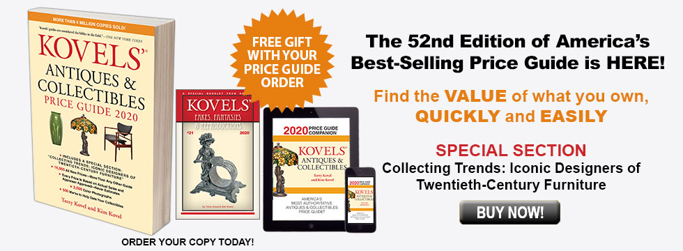 Kovels' Antiques & Collectibles Price Guide 2020 with Free
