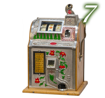 Poinsettia Jackpot Coin-Operated Slot Machine