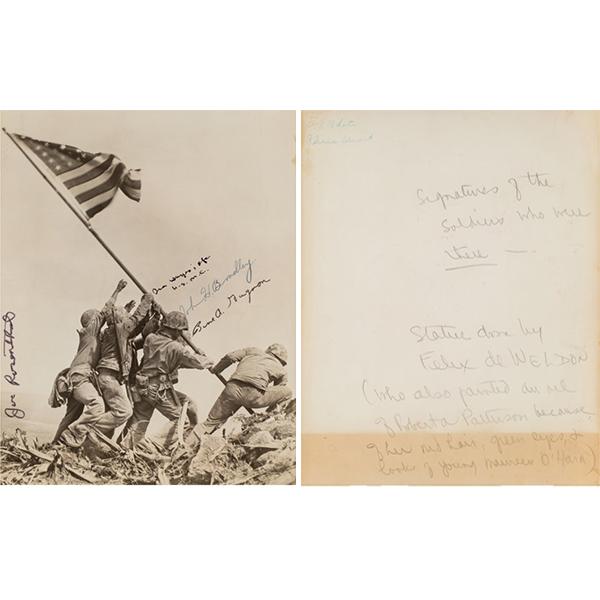 Joe Rosenthal (American, 1911-2006). Raising the Flag on Mt. Suribachi, Iwo Jima, 1945. Gelatin silver. 9-1/4 x 7-3/8 in.