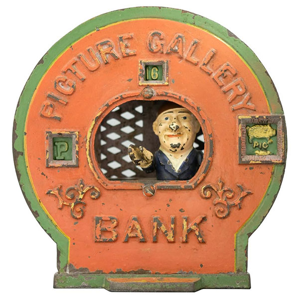 Picturre Gallery mechanical bank