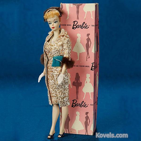 Barbie doll by mattel blonde ponytail evening splendor teen fashion model est 1959