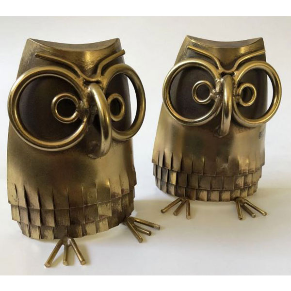 Curtis Jere owl bookends