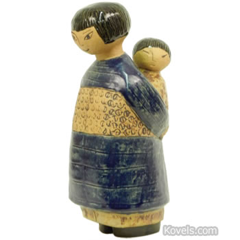 Gustavsberg mother and child figurine designed by Lisa Larson