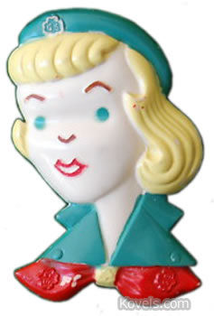 Girl Scout Pin 1950s