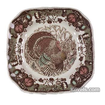 This \u201cHis Majesty\u201d dinner plate features a regal Tom Turkey that is boldly depicted on various dinnerware shapes with a border of fruit nuts ...  sc 1 st  Kovels.com & Dine on a Turkey: Our Five Favorite Turkey Plates   Latest News ...