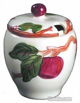 Franciscan Apple jam jar