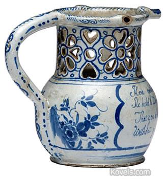 Delftware puzzle jug